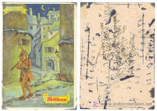SECANTE PELIKAN 634 - EL FLAUTISTA DE HAMELIN (Coleccionismo - Papel Secante)