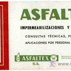 Coleccionismo Papel secante: PAPEL SECANTE ASFALTEX, TAMBIEN CALENDARIO AÑO 1959. Lote 4619842