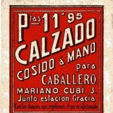 Coleccionismo Papel secante: PAPEL SECANTE, CALZADO COSIDO A MANO PARA CABALLERO. Lote 4619853