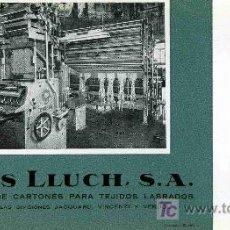 Coleccionismo Papel secante: PAPEL SECANTE, MAS LLUCH, CALENDARIO AÑO 1960. Lote 4619911