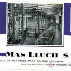 Coleccionismo Papel secante: PAPEL SECANTE, MAS LLUCH,CALENDARIO MARZO ABRIL 1963. Lote 4619919