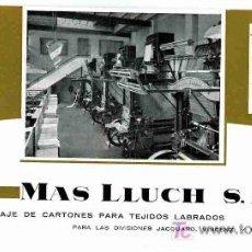 Coleccionismo Papel secante: PAPEL SECANTE, MAS LLUCH, CALENDARIO MAYO JUNIO 1963. Lote 4619928
