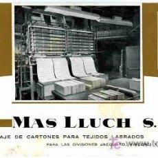 Coleccionismo Papel secante: PAPEL SECANTE, MAS LLUCH, CALENDARIO JULIO AGOSTO 1963. Lote 4619932