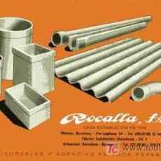 Coleccionismo Papel secante: PAPEL SECANTE, ROCALLA. Lote 4620002