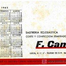 Coleccionismo Papel secante: PAPEL SECANTE, F. CAMP SASTRERIA ECLESIASTICA, CALENDARIO 1963. Lote 4620012