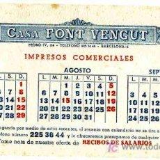 Coleccionismo Papel secante: PAPEL SECANTE, A.J. VALLVE, CALENDARIO AÑO 1952. Lote 4620145
