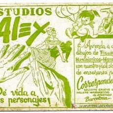 Collezionismo Carta assorbente: SECANTE PUBLICIDAD ESTUDIOS ALEX , SEC185. Lote 25003037