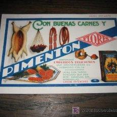 Coleccionismo Papel secante: PAPEL SECANTE PIMENTON FLORES . Lote 8533076