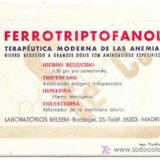 Coleccionismo Papel secante: SECANTE FERROTRIPTOFANOL, MADRID. Lote 6051598