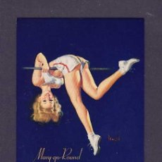 Coleccionismo Papel secante: SECANTE CHICA PIN-UP CON PUBLICIDAD DE BALANTE FAGNANO. Lote 130655100