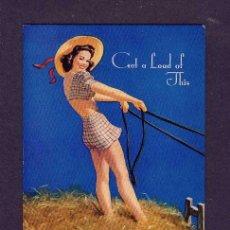 Coleccionismo Papel secante: SECANTE CHICA PIN-UP CON PUBLICIDAD DE BALANTE FAGNANO. Lote 130655058