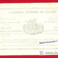 Coleccionismo Papel secante: PAPEL SECANTE DE SEGUROS LA PATERNAL. Lote 20528165