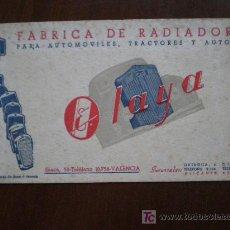 Coleccionismo Papel secante: SECANTE OLAYA. FABRICA DE RADIADORES. VALENCIA, ALICANTE Y SEVILLA.. Lote 21025144