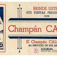 Collezionismo Carta assorbente: SECANTE PUBLICIDAD CAMPAN CALIXTUS , CAVA , SAN SADURNI DE NOYA SEC168 R. Lote 33695234