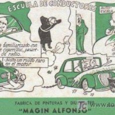 Collezionismo Carta assorbente: PAPEL SECANTE PUBLICITARIO DE, MAGIN ALONSO, FABRICA DE PINTURAS, DIBUJA CASTANYS. Lote 7602301