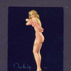 Coleccionismo Papel secante: SECANTE CHICA PIN-UP CON PUBLICIDAD DE BALANTE FAGNANO. Lote 77385655