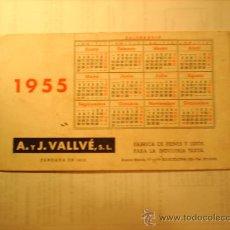 Coleccionismo Papel secante: SECANTE CALENDARIO 1955. Lote 17738468