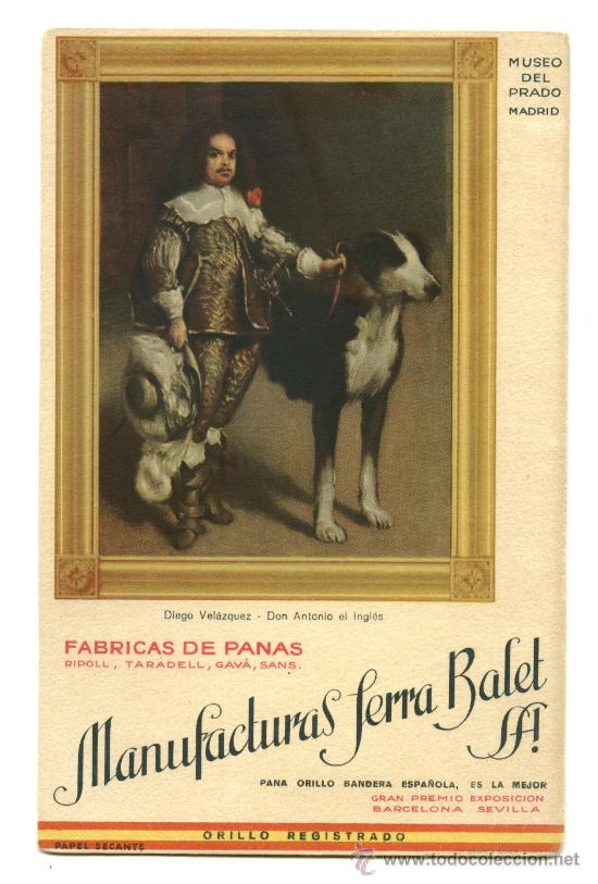 PAPEL SECANTE DE MANUFACTURAS SERRA BALET (Coleccionismo - Papel Secante)