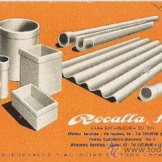 Coleccionismo Papel secante: ROCALLA. PAPEL SECANTE.. Lote 9695092