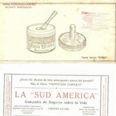 Coleccionismo Papel secante: 2 SECANTES PUBLICITARIOS ANTIGUOS. Lote 12367621