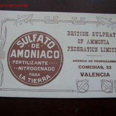 Coleccionismo Papel secante: PAPEL SECANTE - SULFATO DE AMONIACO,FERTILIZANTE NITROGENADO PARA LA TIERRA-VAL.-. Lote 22198246