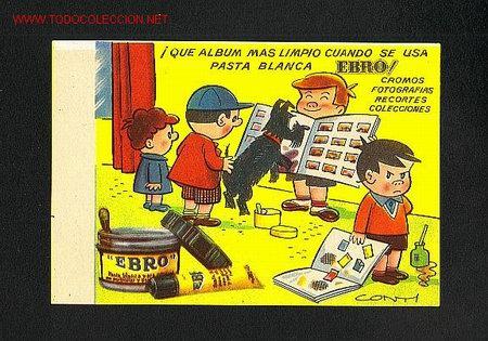 SECANTE EBRO ILUSTRADO POR CONTI (Coleccionismo - Papel Secante)