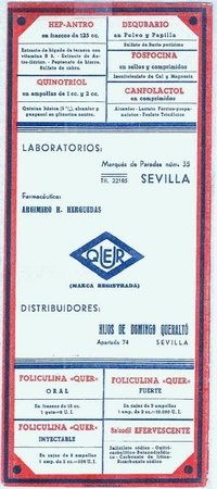 LABORATORIOS QUER (SEVILLA) (Coleccionismo - Papel Secante)