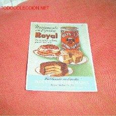 Coleccionismo Papel secante: PAPEL SECANTE PUBLICIDAD ROYAL.. Lote 12296398