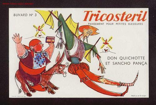 SECANTE TRICOSTERIL CON ILUSTRACION DEL QUIJOTE (Coleccionismo - Papel Secante)