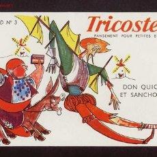Coleccionismo Papel secante: SECANTE TRICOSTERIL CON ILUSTRACION DEL QUIJOTE. Lote 46440704