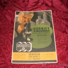 Coleccionismo Papel secante: SUEROS VACUNAS PARA GANADERIA,LABORATORIOS REUNIDOS SA,MADRID,BARCELONA,BADAJOZ,SEVILLA CORDOBA. Lote 10338043