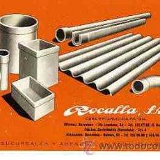 Coleccionismo Papel secante: PAPEL SECANTE ROCALLA. Lote 10509566