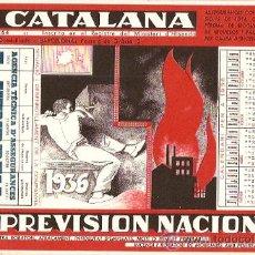Collezionismo Carta assorbente: PAPEL SECANTE PUBLICIDAD SEGUROS LA CATALANA CON CALENDARIO 1936. Lote 10580688