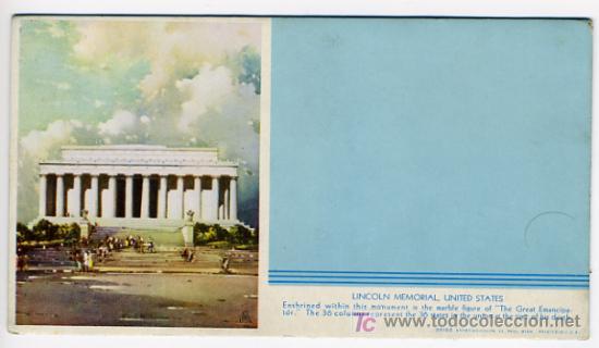 SECANTE PUBLICIDAD LINCOLN MEMORIAL , USA , SEC302 (Coleccionismo - Papel Secante)