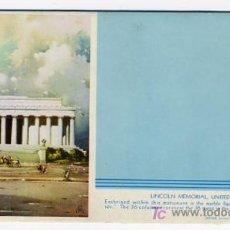 Coleccionismo Papel secante: SECANTE PUBLICIDAD LINCOLN MEMORIAL , USA , SEC302. Lote 24383527
