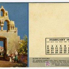 Coleccionismo Papel secante: SECANTE PUBLICIDAD ISLAND OF SANTORIN , CALENDARIO 1947 , USA , SEC303. Lote 171453723