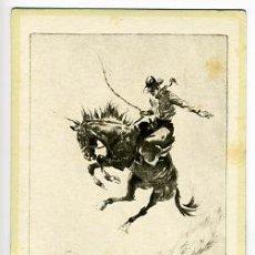 Collectionnisme Papier buvard: GRAN SECANTE PUBLICIDAD, CABALLO, RODEO, ILUSTRADOR R. H. PALENSKE, CALENDARIO 1945,SEC329. Lote 22592470
