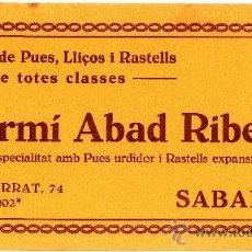 Coleccionismo Papel secante: FERMÍ ABAD RIBERA. SABADELL. FRABRICA DE PUES, LLICORS I RASTELLS. Lote 11202720