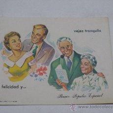 Collectionnisme Papier buvard: SECANTE PUBLICIDAD BANCO POPULAR ESPAÑOL . HAUSER Y MENET . MADRID . MEDIDAS 16 X 23 CMS . SIN USAR. Lote 64576645