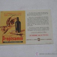 Coleccionismo Papel secante: SECANTE . PUBLICIDAD FARMACIA . PROPISAMÍN . LABORATORIO DR . ANDREU . Lote 19085299