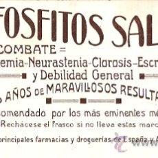 Coleccionismo Papel secante: SECANTE HIPOFOSFITOS SALUD . Lote 11869537