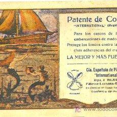 Coleccionismo Papel secante: PEPEL SECANTE DE LA PUBLICIDAD DE PATENTE DE COBRE HOLZAPFEL BILBAO. Lote 22907404