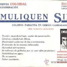 Coleccionismo Papel secante: LABORATORIOS INVESTIGACION COLOIDAL *BARCELONA* PAPEL SECANTE *EMULIQUEN SIMPLE*. Lote 12206045
