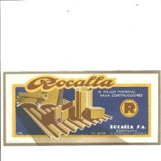 Coleccionismo Papel secante: PAPEL SECANTE ROCALLA S.A.. Lote 26928896