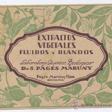 Coleccionismo Papel secante: SECANTE *LABORATORIO QUIMICO DR. PAGÉS MARUNY* - FARMACIA. Lote 24957247