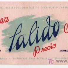 Coleccionismo Papel secante: PAPEL SECANTE PAPELERIA SALIDO ARTICULO DE REGALO JEREZ DE LA FRONTERA, CADIZ. Lote 22907389