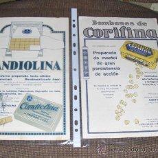 Coleccionismo Papel secante: 6 GRANDES SECANTES CON PUBLICIDAD FARMACEUTICA. BAYER.. Lote 26005096