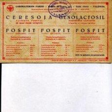 Coleccionismo Papel secante: PAPEL SECANTE USADO LABORATORIOS PARDO, (VALENCIA) FARMACIA. Lote 13893873