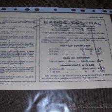 Coleccionismo Papel secante: 2 SECANTES DIFERENTES DEL BANCO CENTRAL.. Lote 13908461