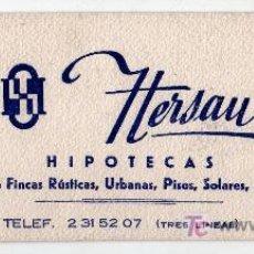 Coleccionismo Papel secante: PAPEL SECANTE HIPOTECAS HERSAN MADRID. Lote 13919323